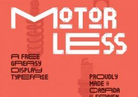 motorless font