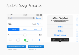 Apple UI design resources