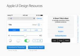 Apple UI design resources