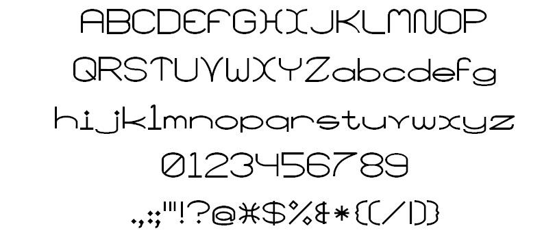 wide font