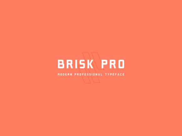 Brisk Pro Font