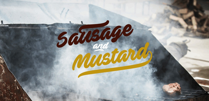 sausage and mustard sport font