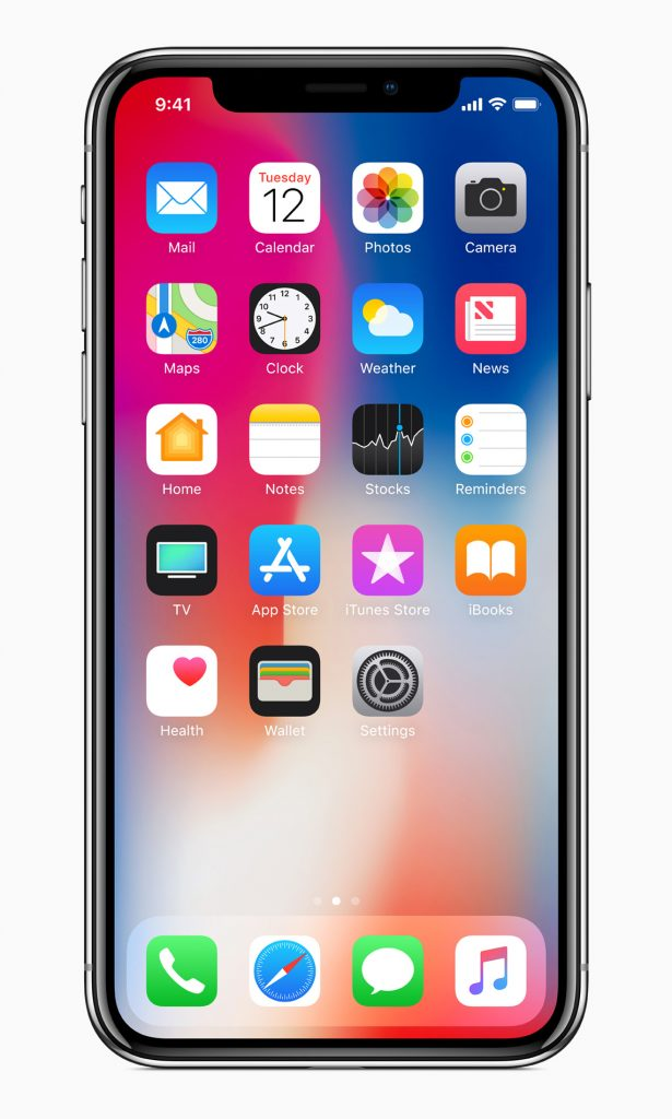 iPhone X homescreen